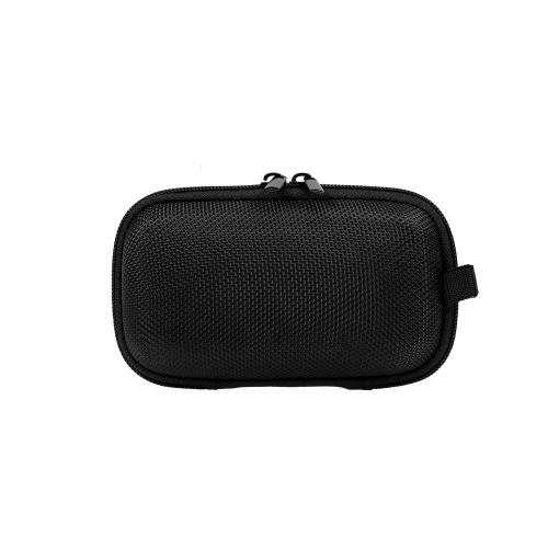 メッシュバッグ付きキャリングケース防水耐衝撃性収納バッグホールドUSBケーブル/電源アダプター/ Uディスク/イヤホン(ブラック)