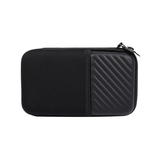 Hard Drive Storage Bag Portable Carrying Case EVA Shockproof Organizer for Hard Disk Cables Charger Impact Resistant Black
