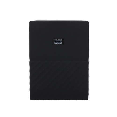 Hard Drive Silicone Case Hard Disk Non-Slip Protective Cover Scratch & Shock Proof Protector SleeveSSD Sheath For WD My passport 1t 2T Black