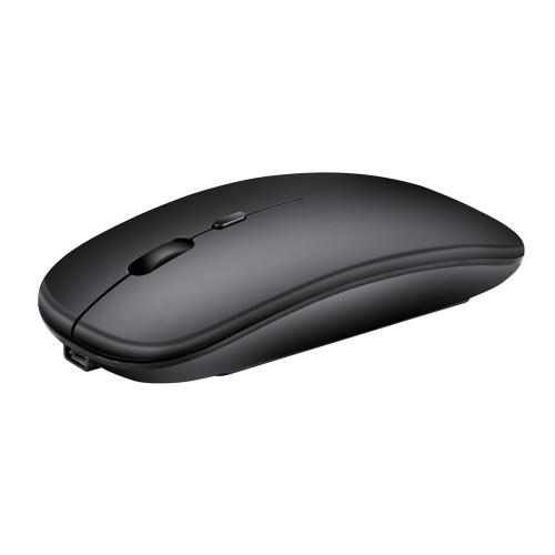 HXSJ Беспроводная мышь 2.4G Ультратонкая бесшумная мышь Портативная и гладкая мышка перезаряжаемая мышь 10м / 33 фута Беспроводная передача (черный) фото