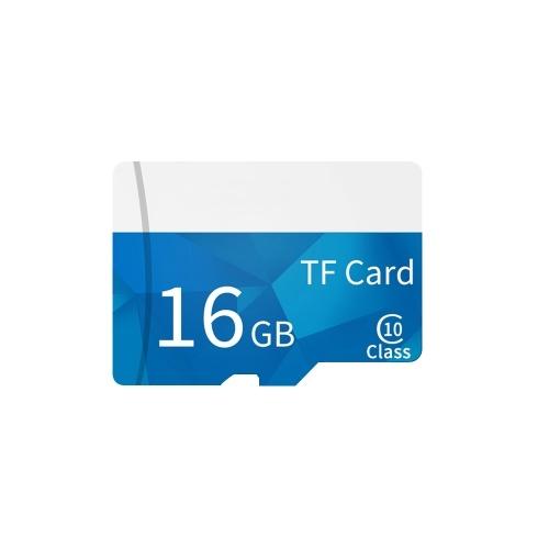 Tarjeta de memoria Tarjeta de memoria TF de 16 GB Tarjeta TF de gran capacidad de alta velocidad C10 con funda de tarjeta para dispositivos de monitoreo de grabadora de conducción
