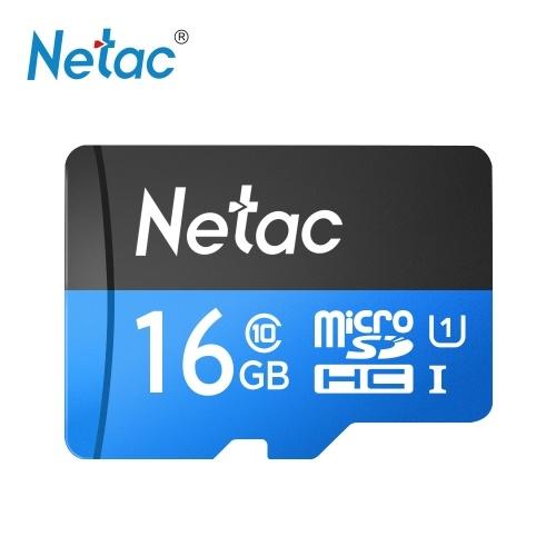 Netac P500 Class 10 16G Micro SDHC TF Флэш-карта памяти Хранение данных UHS-1 Высокая скорость до 80 МБ / с