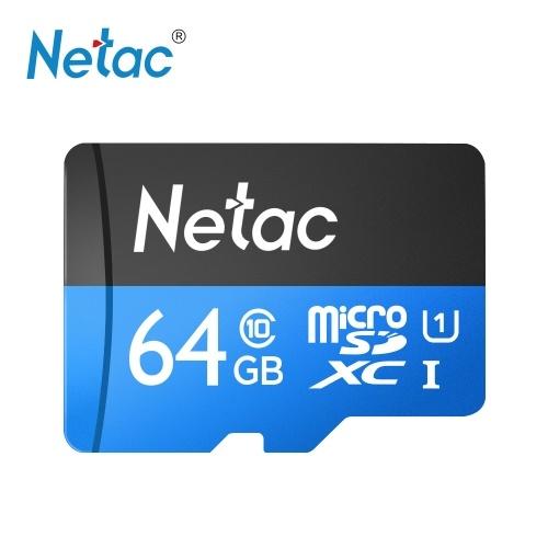 Netac P500 Class 10 64G Micro SDXC TF Flash Memory Card Data Storage High Speed Up to 80MB/s