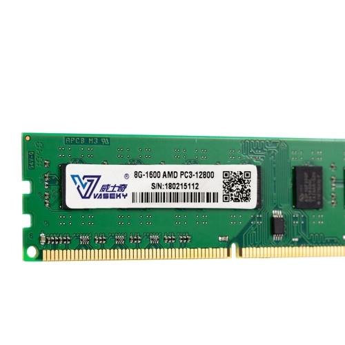 Vaseky 8G Memory DDR3 1600 Память 8G для настольных ПК Высокая скорость чтения / записи Бесшумная память для настольных ПК DDR3 1600 МГц Для AMD