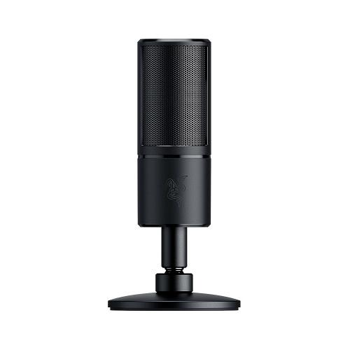 Razer Seiren X Потоковый микрофон USB Встроенное амортизирующее устройство Суперкардиодный датчик 25 мм Конденсаторные капсулы USB Plug & Play Черный