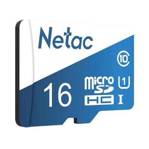 Netac P500 Overseas Version Class 10 Micro SDXC TF Card Flash Memory Card Data Storage 80MB/s 16GB