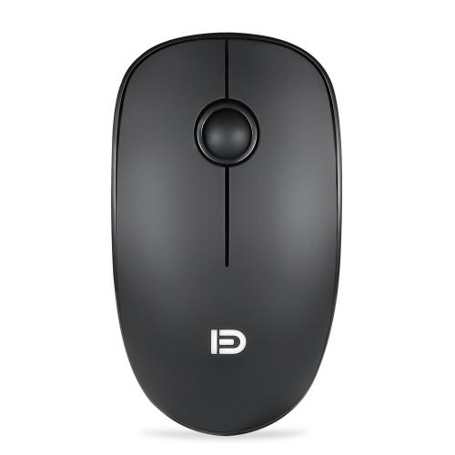 FD V8 2,4G Wireless Mute Maus Plug & Play Schlanke Mäuse Optische Verfolgung Energiesparende Glatte Scrollrad für Laptop PC (Schwarz)