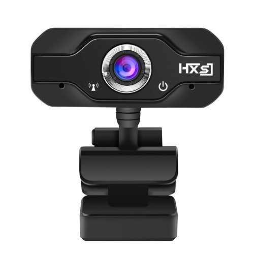 HXSJ S60 HD Webcam with Mic 1080P 720P Fixed Focus High-end Video Call Web Camera Black