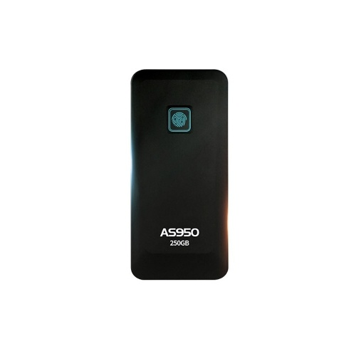 ASint AS950 Fingerprint Encryption SSD IP67 Water Resistant Private Zone Solid State Drive Hard Disk USB3.1 250GB