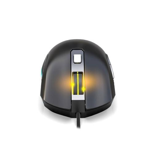 Kingangjia G530 Optische Esport Gaming Maus Einstellbar 6400DPI LED Atemlicht USB Kabelgebundene Maus für Mac Laptop PC