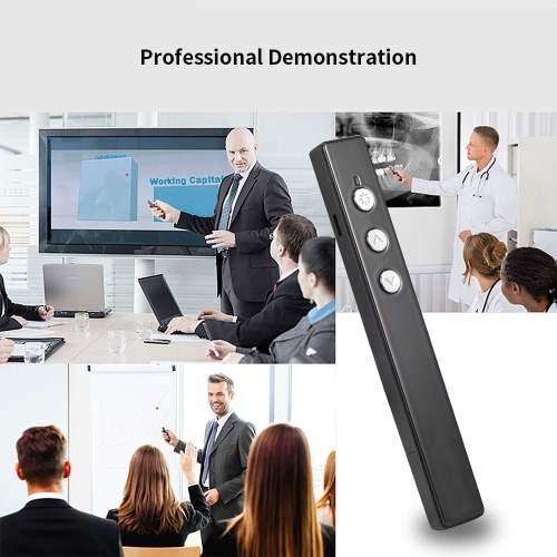 PPT Flip Pen Kabelloser Presenter PPT Clicker Multifunktions-Projektionsstift Laser-Flip-Pen-Fernbedienung