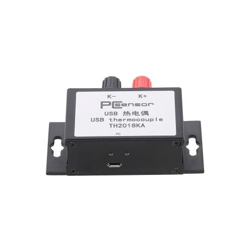 TH2018KA Termocoppia USB con 0 ~ 1024 ℃ Gamma di tipo K Supporto sonda Allarme e-mail per rilevamento ambientale ad alta temperatura