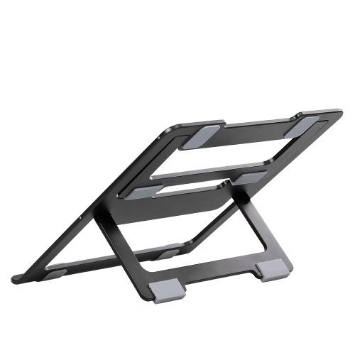 Aluminum Alloy Heat Dissipation Bracket Computer Heat Dissipation Bracket Portable Collapsible Vertical Bracket Black