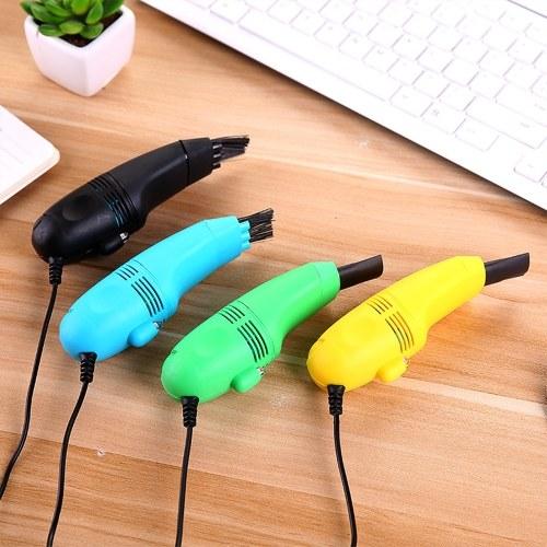 Творческий USB-клавиатура Пылесос Портативный мини портативный USB-пылесос Клавиатура-пылесос (черный) фото