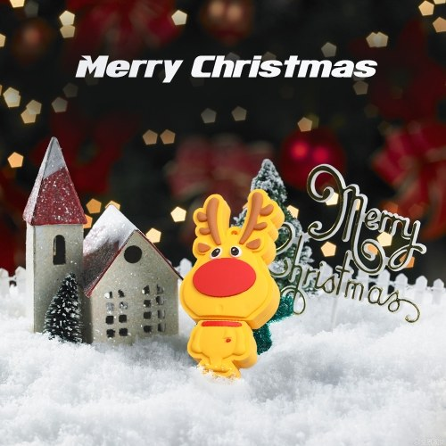 Creative Christmas Series U-Disk Portable USB 2.0 Hochgeschwindigkeitsübertragung U-Disk Christmas Deer 128 GB