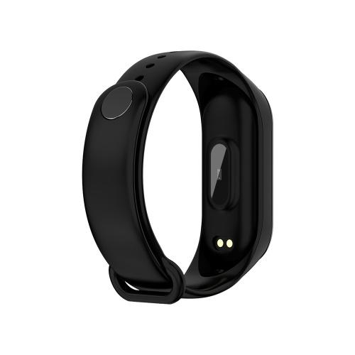 Sports Smart Bracelet BT4.0 Smart Bracelet IP67 Waterproof Support Movement Track Heart Rate Monitor Information Push Black