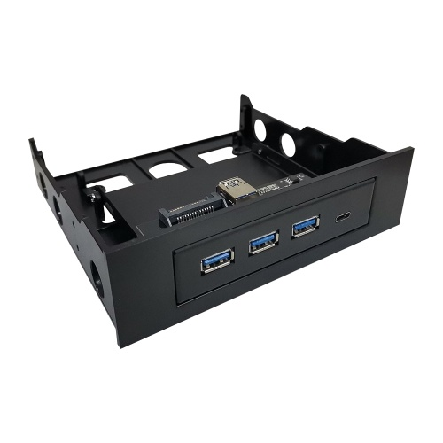 Multifunctional Extended CD Driver Panel 5.25/3.5'' Floppy Front Panel with Type-C Three USB3.0 Ports USB&Power Cable