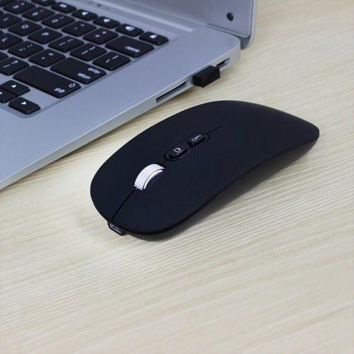 M103 Аккумуляторная беспроводная мышь 2.4G Беспроводная мышь Ультратонкая мышь Mute 3 Регулируемый DPI Встроенный аккумулятор 500 мАч Черный фото