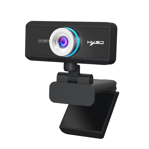 HXSJ S4 HD 1080P Webcam Manueller Fokus Computer Kamera Eingebautes Mikrofon Videoanruf Webkamera für PC Laptop Schwarz