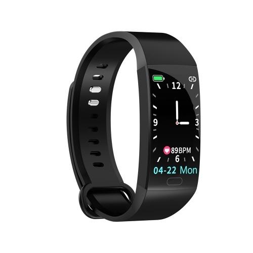 RD11 Smart Bracelet 1.14 inch Sports Bracelet with Heart Rate Blood Pressure Blood Oxygen Monitoring IP67 Waterproof Black