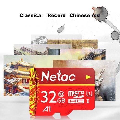 Netac TF(MicroSD)32GB Memory Card U1 C10 Traffic Recorder Monitoring Camera Mobile Phone Storage Card