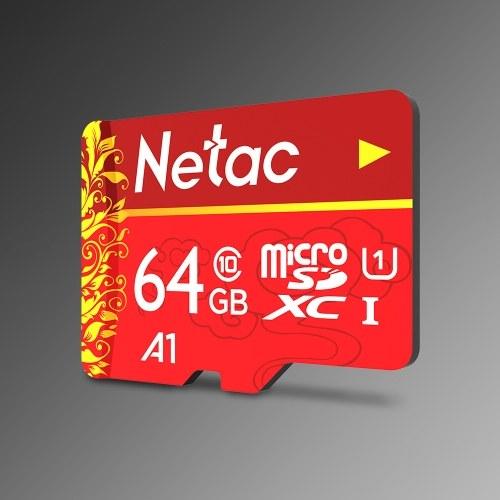 Netac TF(MicroSD)64GB Memory Card  A1 U1 C10 Traffic Recorder Monitoring Camera Mobile Phone Storage Card