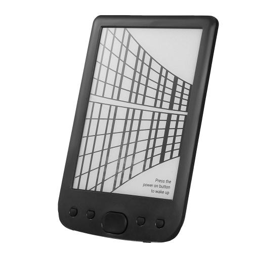 BK-6025 Портативное устройство для чтения электронных книг 16GB E-Ink 6-дюймовый многофункциональный E-Reader 800 * 600 Экран дисплея с высоким разрешением 300DPI