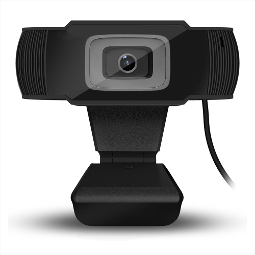 HXSJ A870 USB Webcam 480P Fixed Focus Web Camera Built-in Sound Absorbing Microphone for   Desktop Computer Laptop Black