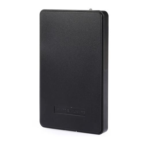 Custodia per disco rigido da USB 2.0 a IDE Contenitore per disco rigido IDE da 2,5 '' Contenitore per disco rigido portatile Contenitore per HDD senza attrezzi Nero