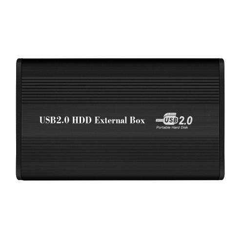 USB2.0 to IDE Жесткий диск 2.5 '' IDE HDD Корпус Портативный жесткий диск Box Жесткий диск из алюминиевого сплава Черный