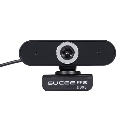 GUCEE HD98 Webcam 12MP Manual Focus Web Camera Built-in Microphone Drive-free Plug&Play Camera for Desktop Laptop Black