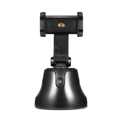 Держатель для отслеживания объектов на 360 ° Портативный смарт-съемочный кардан Поворот на 360 ° для лица с функцией автоматического слежения Держатель для телефона черный