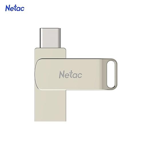 Netac U783C Typ C + USB-Flash-Laufwerk mit doppelter Schnittstelle Plug & Play-Speichererweiterung für Mobiltelefone U Disk Silver