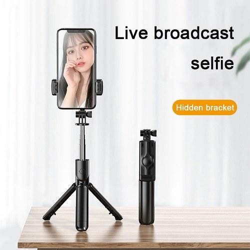 S03 Mini Selfie Stick Bluetooth 4.0 Wireless Aluminum Alloy Selfie Stick Tripod Foldable Monopods for SmartPhones Camera