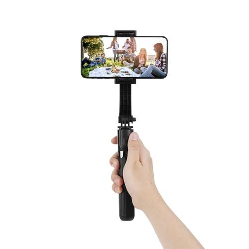 L08 Gimbal Stabilizer Selfie Stick Tripod BT4.0 Wireless Aluminum Alloy Foldable Selfie Stick Tripod for Smartphone Black