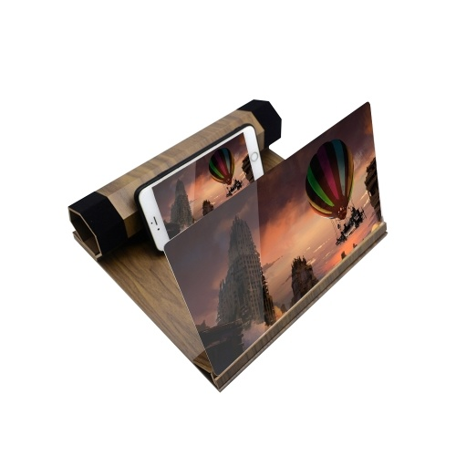 12-inch Mobile Phone Screen Magnifier Chasing Artifact 3D Projection Cinema Effect Phone Screen Zooms Black
