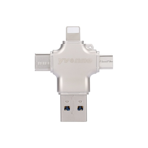 yvonne Y23 USB2.0 U Disk Type-C Four-In-One High Speed OTG U Disk for Phone/PC/Laptop
