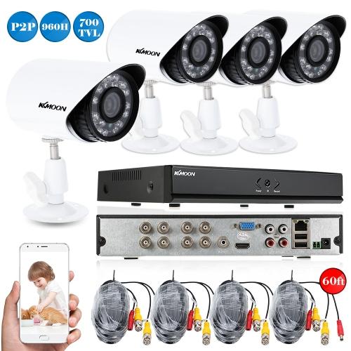 KKmoon 8CH HDMI 960H DVR 4本700TVL IR防水CCTVカメラホームセキュリティシステムビデオ監視キット
