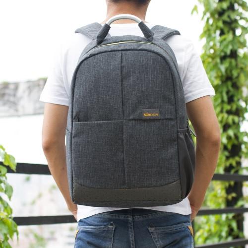 KKmoon Zipper uomini Business Casual zaino a tracolla computer portatile Notebook Bauletto scuola Viaggi escursionismo