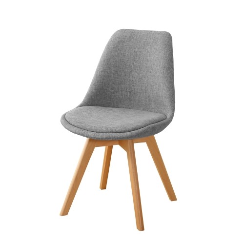 Chaise de style scandinave confortable Gris clair