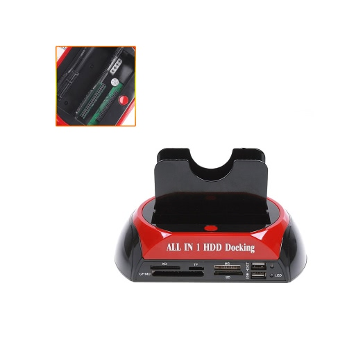 """All in 1 HDD Docking Station e-SATA Hub Card Reader 2.5""""3.5"""" Dual Slots USB2.0 SATA IDE with One Touch Backup C1091EU"""