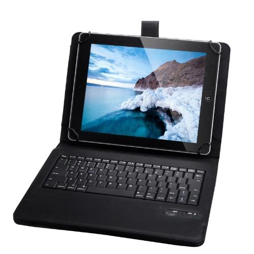 Uniwersalny Odłączana klawiatura bezprzewodowa Bluetooth Leather Case pokrowiec do 9