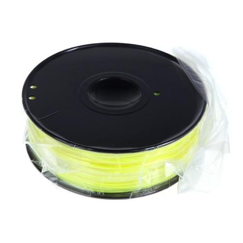 3D Printer Filament 1kg-2.2lb 1.75mm ABS Plastic for MakerBot RepRap Mendel Yellow