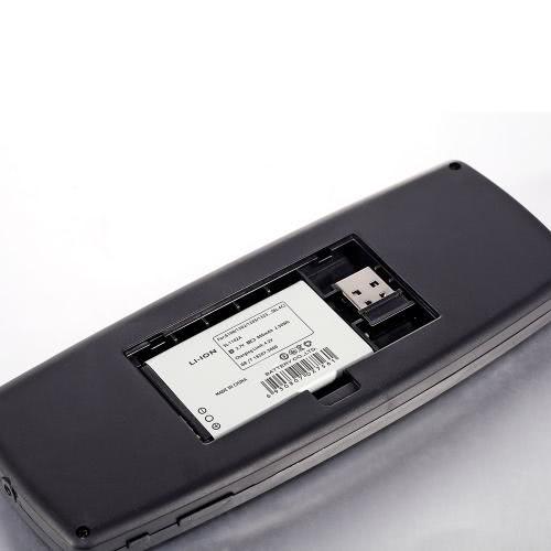 Mini Qwerty portátil 2.4GHz sem fio teclado Touch Pad remoto Laser Ponteiro Mouse com receptor USB para TV caixa PC Notebook