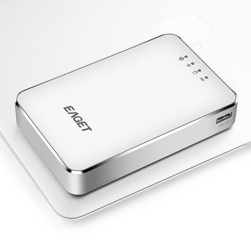 EAGETA A86 1TB USB3.0 High-Speed Wireless WIFI Portable External Hard Disk Drive Electronics Storage Device 3G Router Mobile Power Bank for Laptop & Desktop
