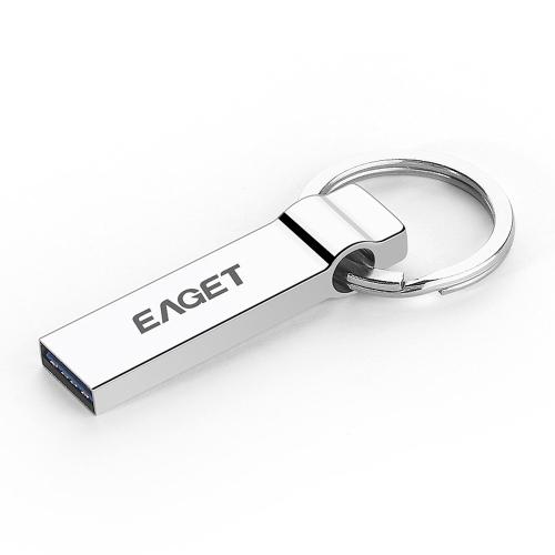 EAGET U90 32GB memória armazenamento portátil PC USB 3.0 Tablet Full Metal Flash Pen Drive Encryption impermeável com chaveiro
