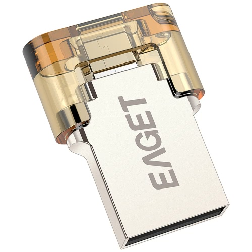 EAGET V8 32GB Ultra Mini Pull Push Cap Encryption Metal Tablet PC USB Flash Drive USB2.0 OTG Smartphone Pen Drive Micro USB Portable Storage Memory