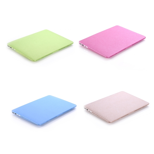 """Hard Case Silk Pattern Leather Cover Snap-on Shell Protective Skin Ultra Slim Light Weight for Apple Macbook Air 11 inch 11.6"""" C2163BL"""