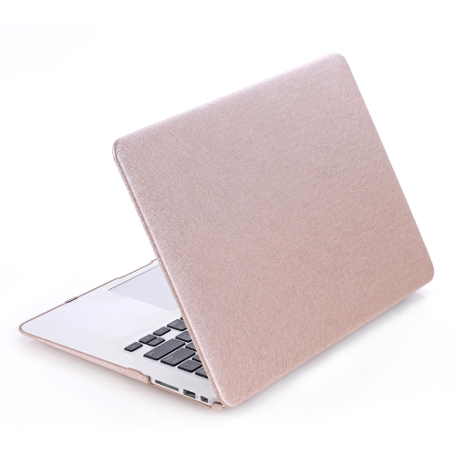 Hard Case Silk Pattern Leather Cover Snap-on Shell Protective Skin Ultra Slim Light Weight for Apple Macbook Pro 13-inch 13.3