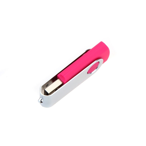 Pure Candy Color Swivel 4G USB 2.0 Flash U Disk High Speed Rotating Storage Pen Drive Memory Stick with Keyhole